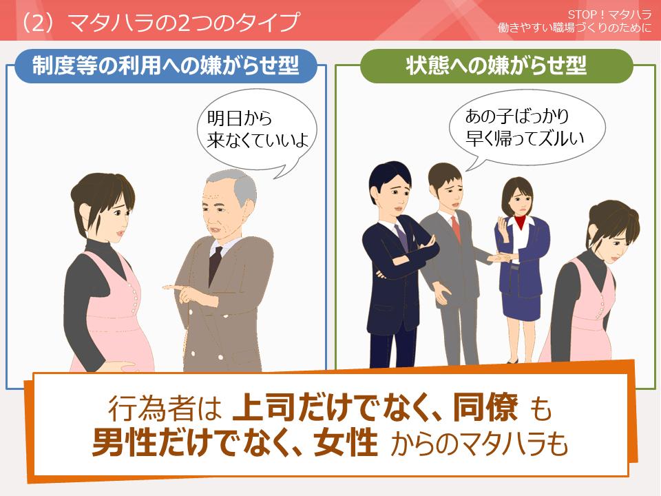 STOP!マタハラ(マタニティハラスメント) ~働きやすい職場づくりのために~